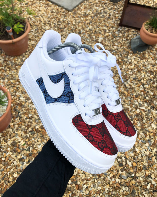 Blue/Red GG Nike Air Force 1 '07 Low