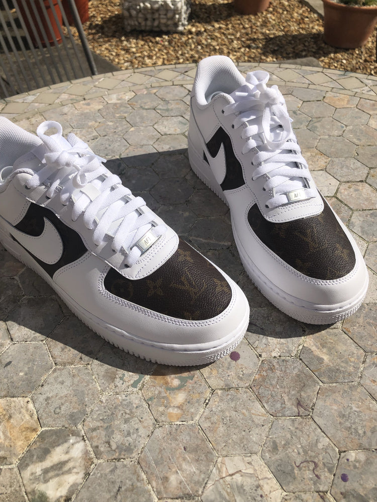 Nike Air Force 1 '07 • White | Brown Monogram