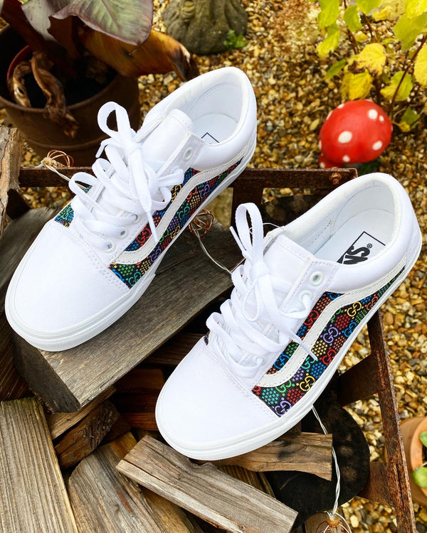 *SALE* Old Skool Vans • White | Multi colour • GG