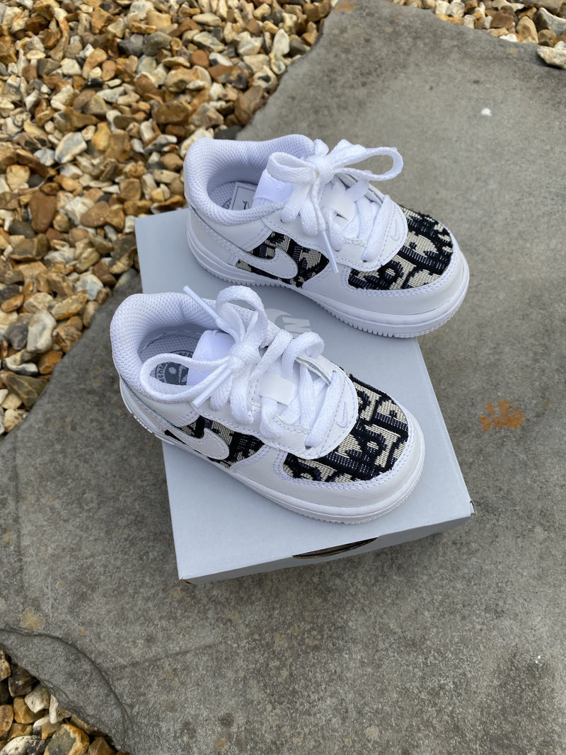 Baby Dior Air Force 1 - Blue/White *toddler sizes*
