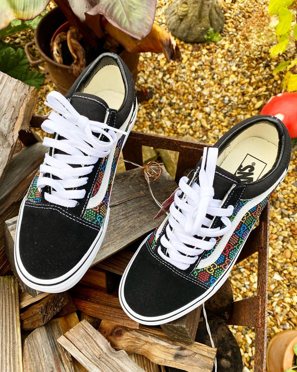 *SALE* Old Skool Vans • Black | Multi colour • GG