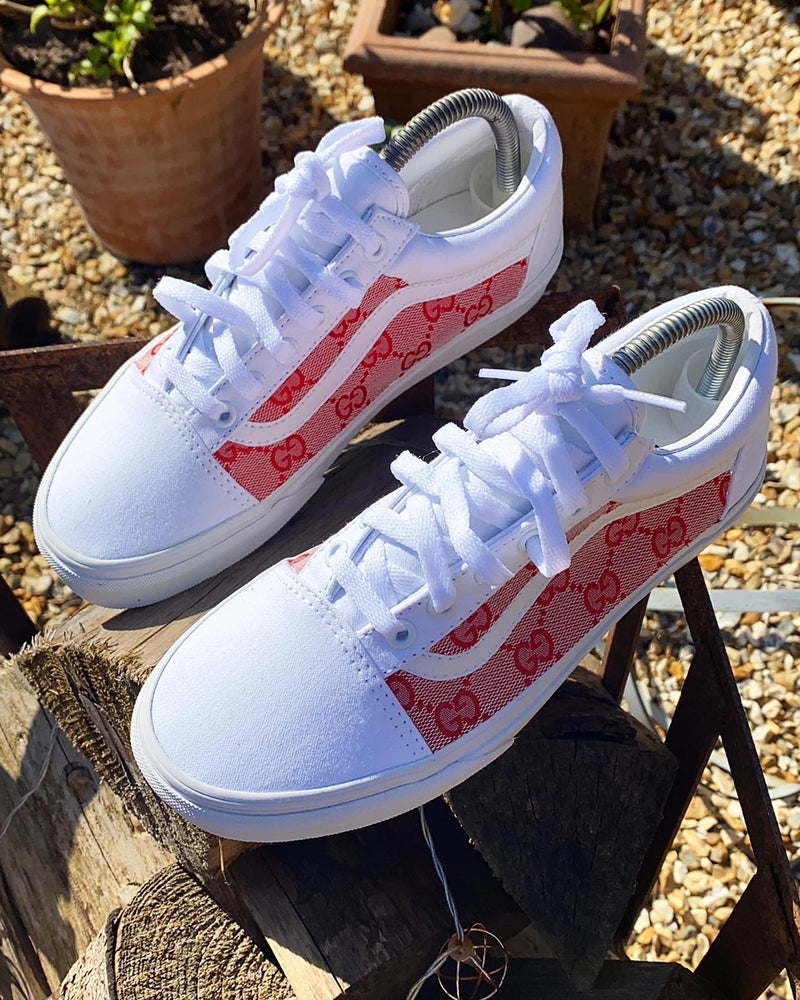 Old Skool Vans • White | Pink • GG
