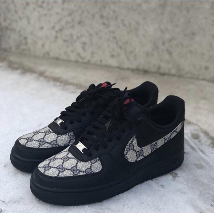 Nike Air Force 1 - Black | Grey • GG