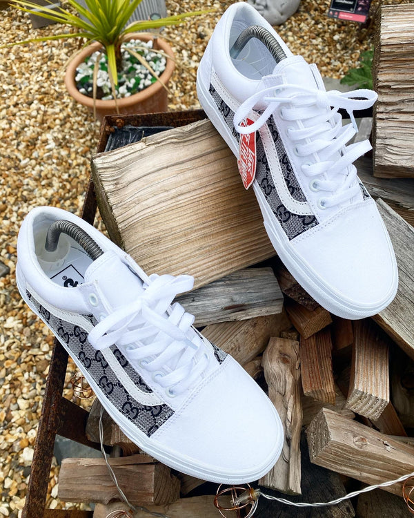 Old Skool Vans • White | Grey GG
