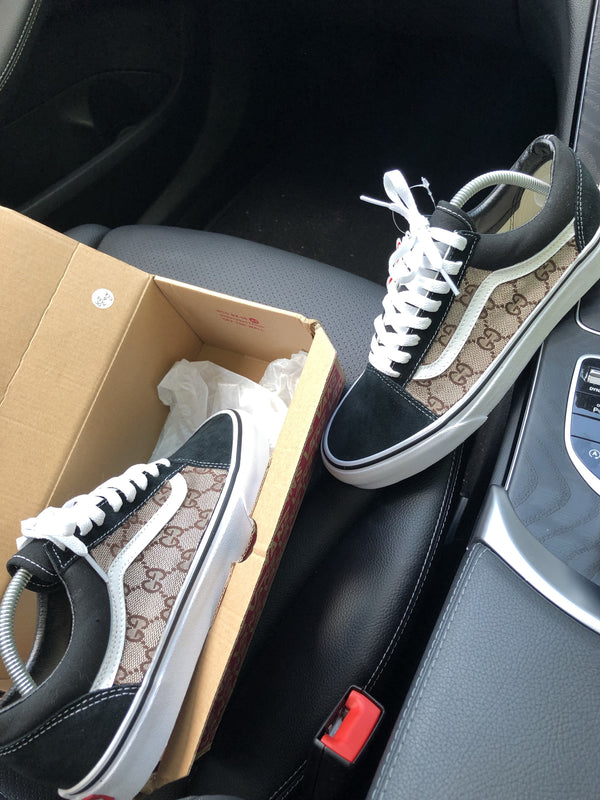 Old Skool Vans • Black | Tan • GG