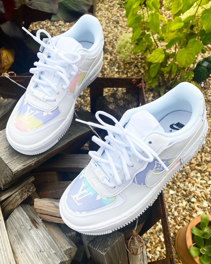Nike Air Force 1 Shadow | White • Rainbow Monogram