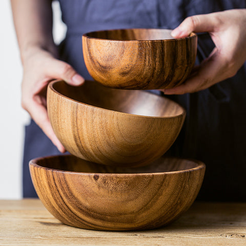 Acacia Wood Salad Bowl | The Cuisine Shop
