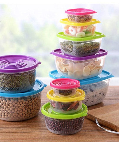 Set of 5 Colorful Food Containers | The Cuisine Shop