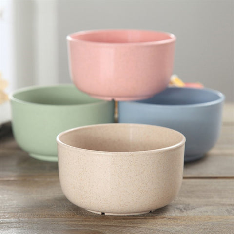 Set of 4 Colorful Wheat Straw Bowls | The Cuisine Shop