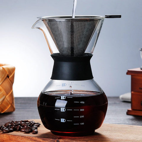 Glass Pour Over Coffee Maker | The Cuisine Shop