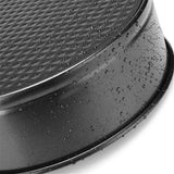 Black Carbon Steel Round Cake Pan, 20cm | The Cuisine Shop