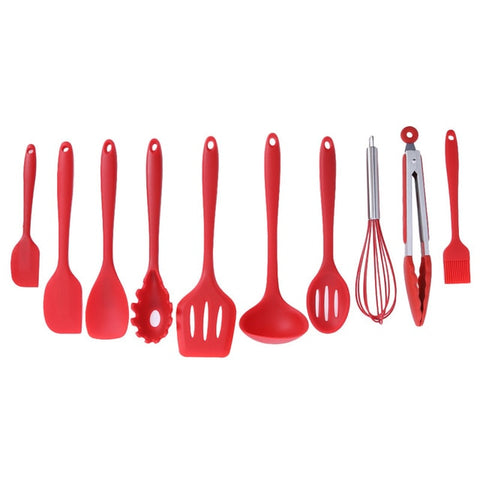 Set of 10 Silicone Spatulas | The Cuisine Shop
