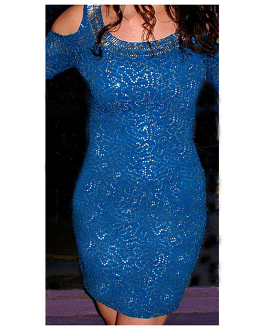 All That Glitters Dress: Teal