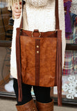 Cross Body Purse With Fringe: Brown