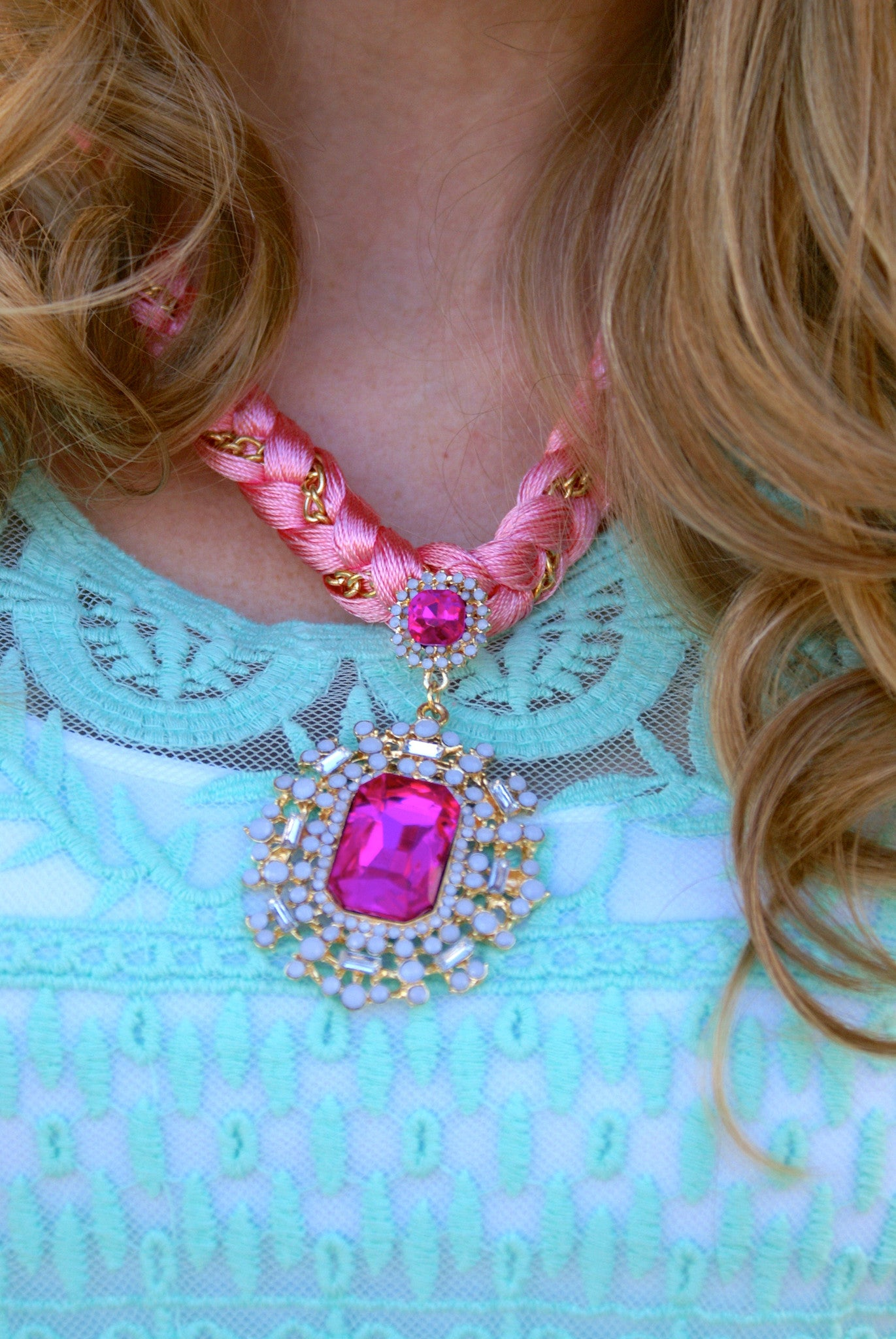 Princess Pink Necklace: Pink