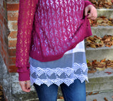 Magenta Top With Layering Cami