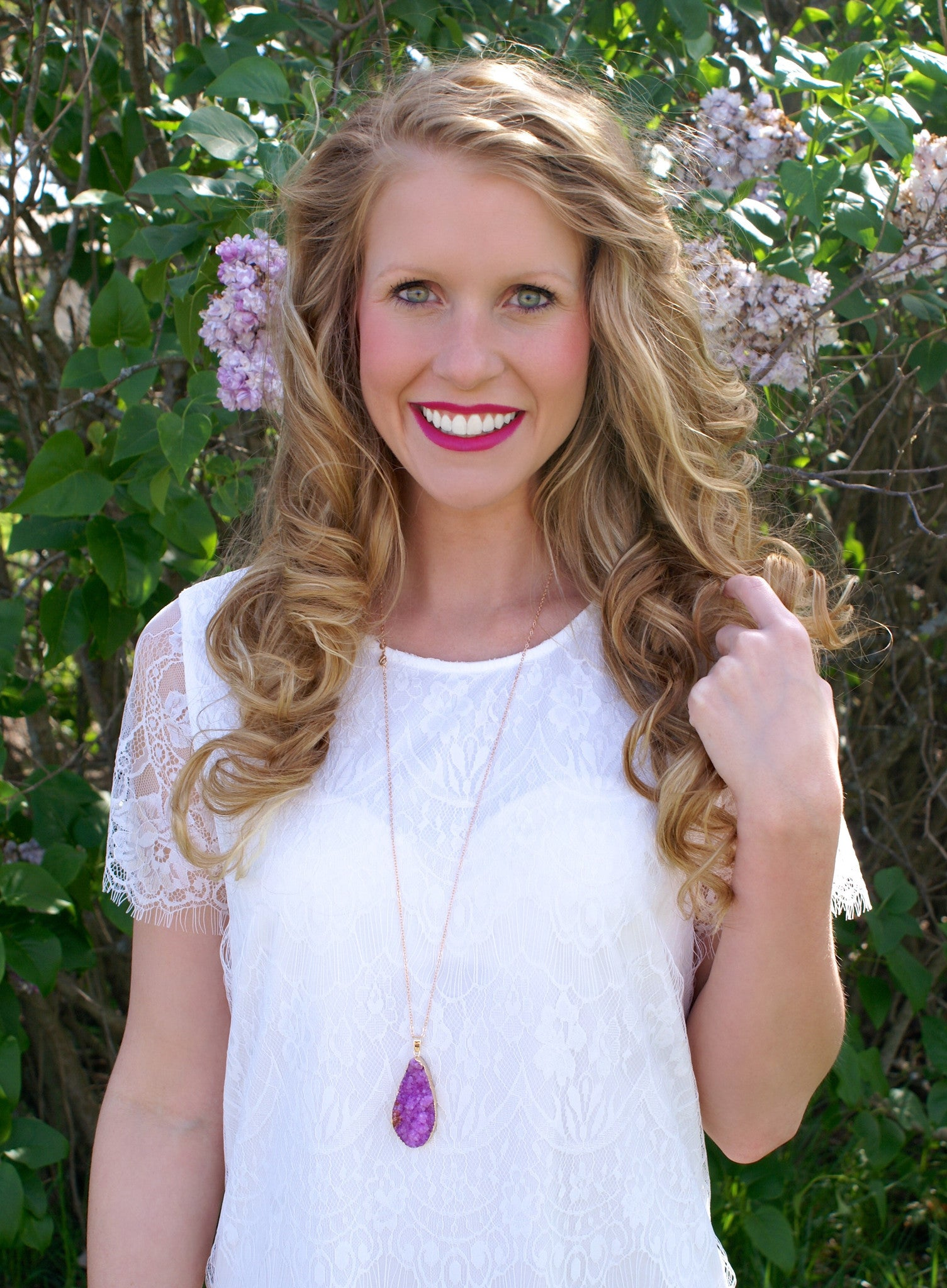 Spring Blossom Necklace: Purple