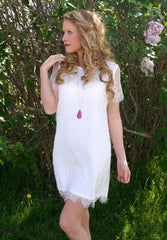 Sweet Innocence Dress: White