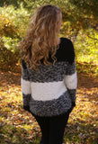 Night Dreamer Sweater: Black/White