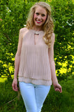 Make A Wish Top: Taupe