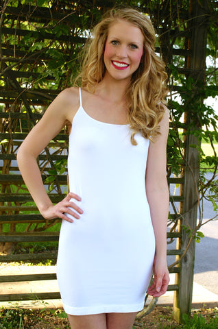 Oh So Soft Slip Dress: White