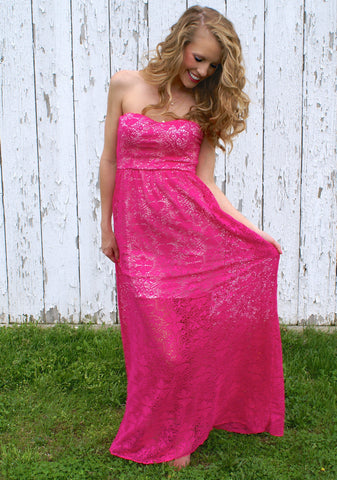 Love Without Cause Maxi Dress: Fuchsia