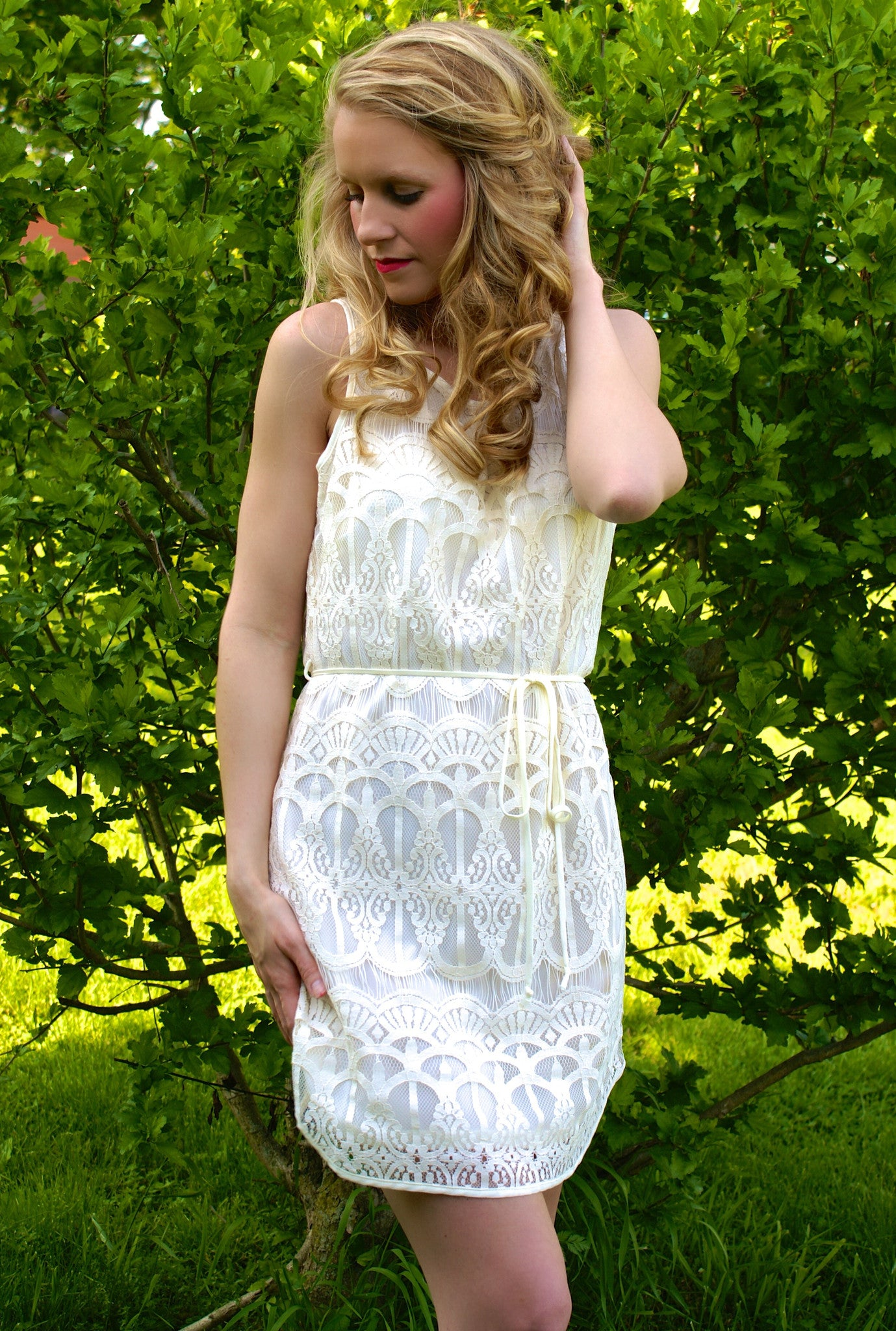 Just Say Yes Dress: Ivory