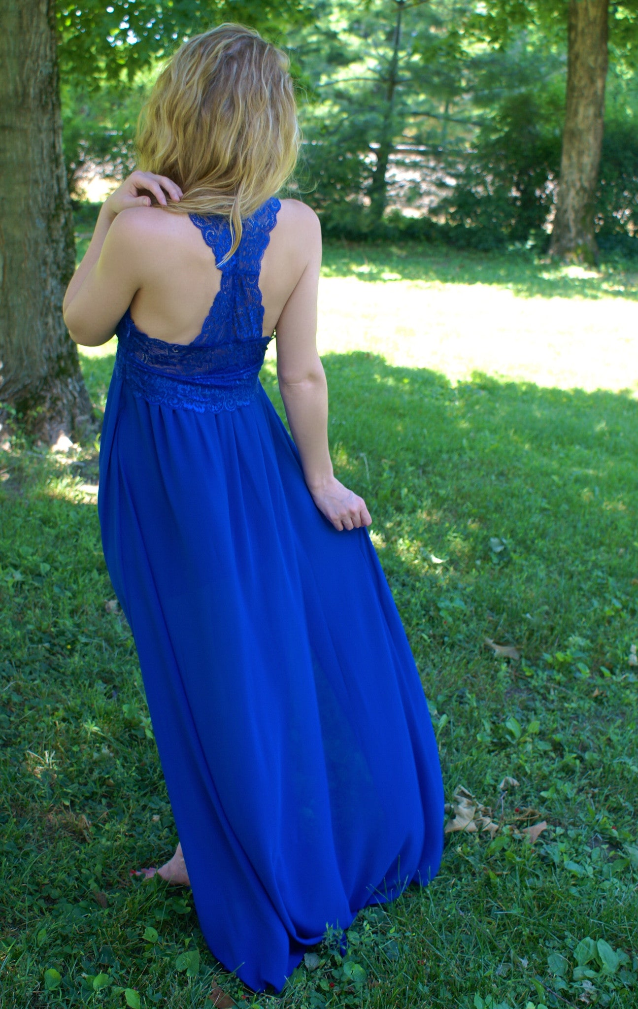Beautifully Blue Maxi Dress: Royal Blue