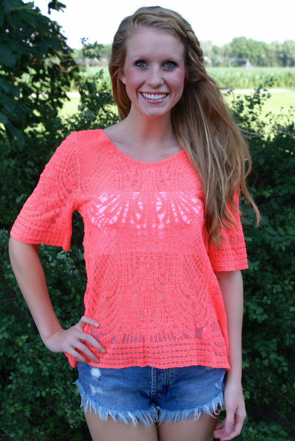 Dreamsicle Top: Coral