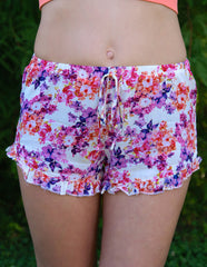 Ruffled Darling Shorts: Multi