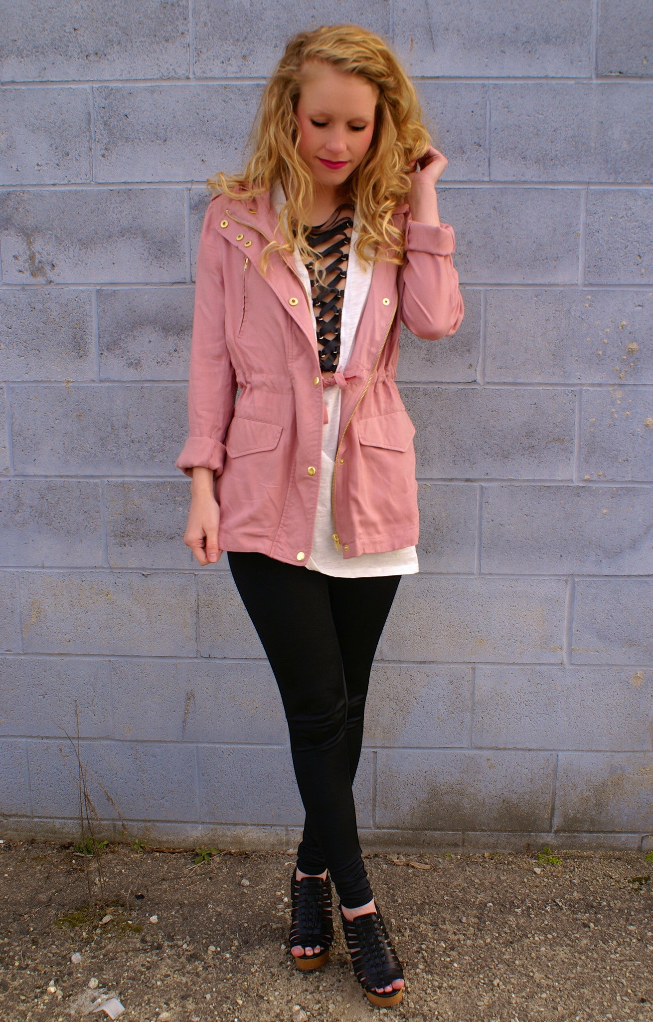 Holding On Jacket: Dark Rose