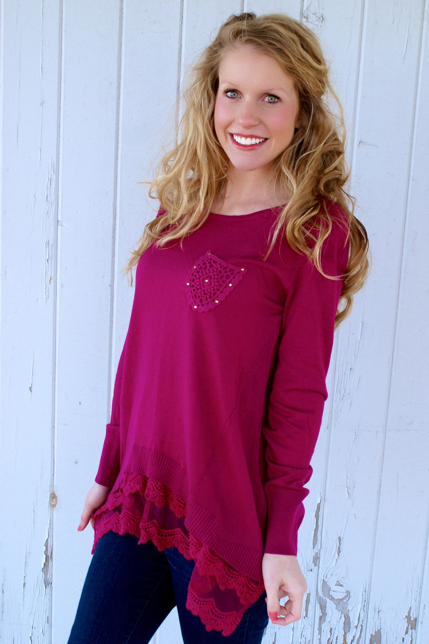 Forever & Always Top: Magenta