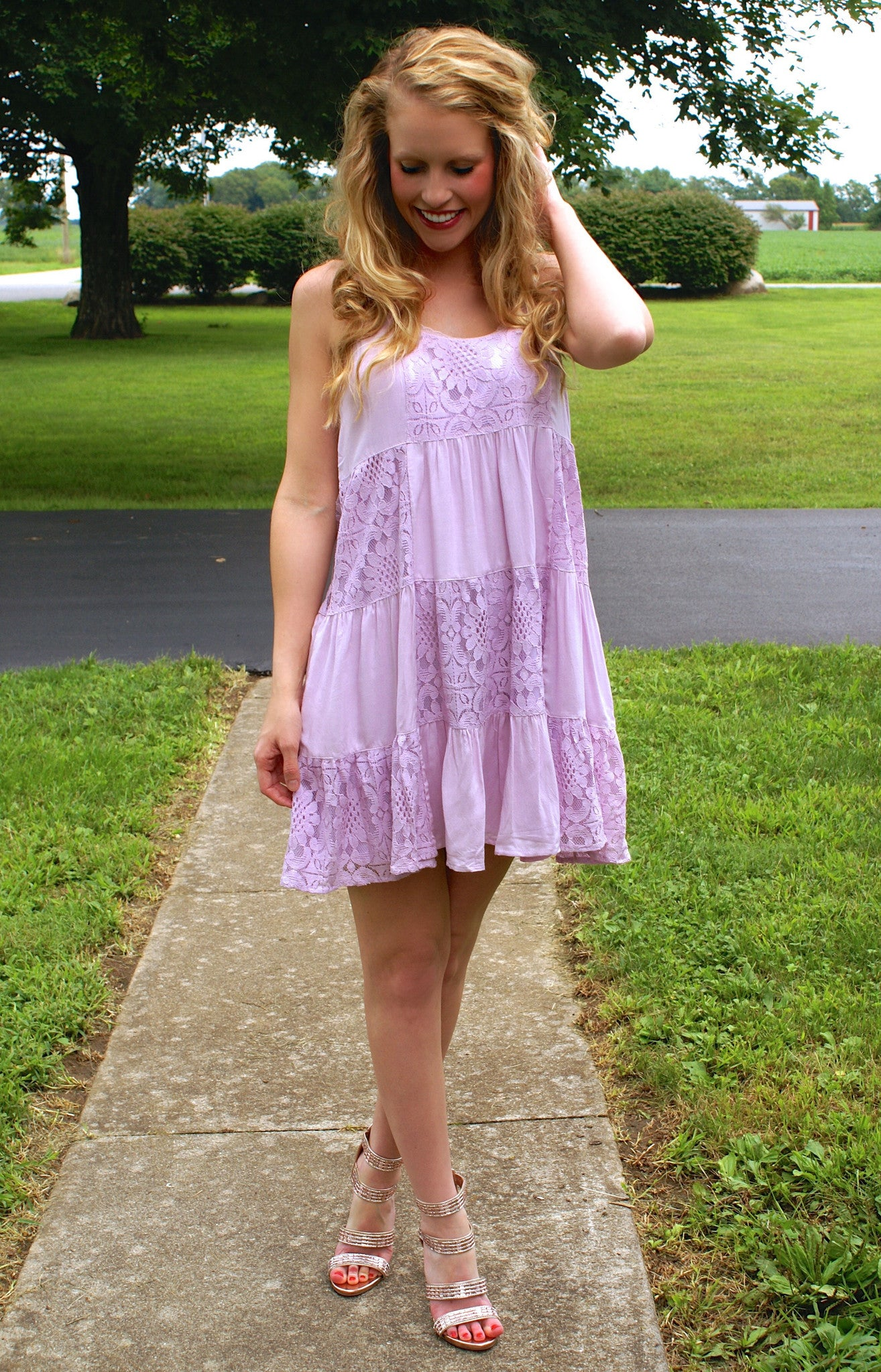 Never Back Down Dress: Lilac