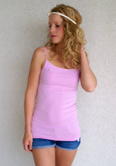 Oh So Soft Tank-Long Length: Lilac