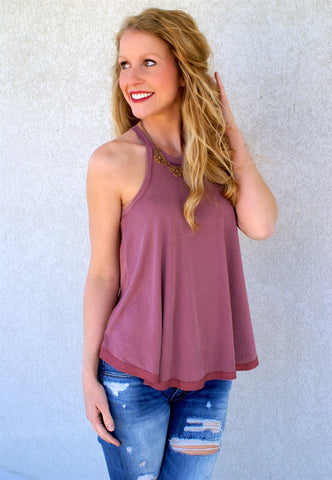 In Time For Spring Top: Dark Rose