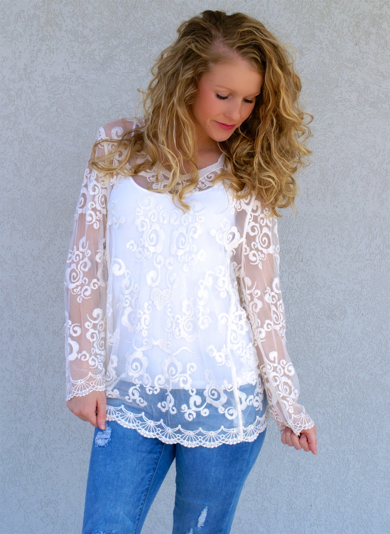 Sheer Perfection Top: Ivory