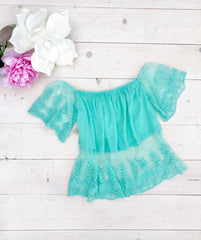 Sheer Sweetness Top: Mint