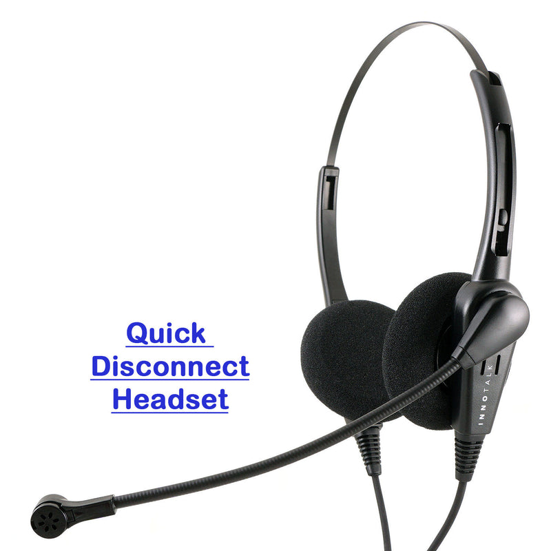 Phone headset - Jabra Compatible quick disconnect, Economic Customer Representative Binaural headset - Noise Cancel Mic.