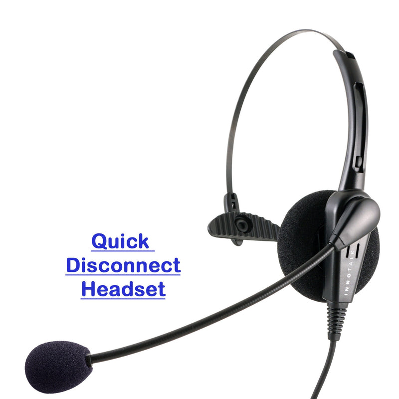 Phone headset - Economic Noise Cancelling Microphone Monaural Headset for Call Center - Plantronics Compatible QD