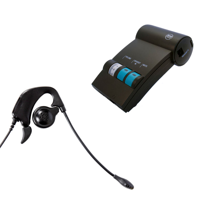 Cisco Phone 7910G, 7911G, 7912G, 791xG headset package - Ear Loop Headset Noise cancelling Microphone with a Headset Amplifier for Customer Representative