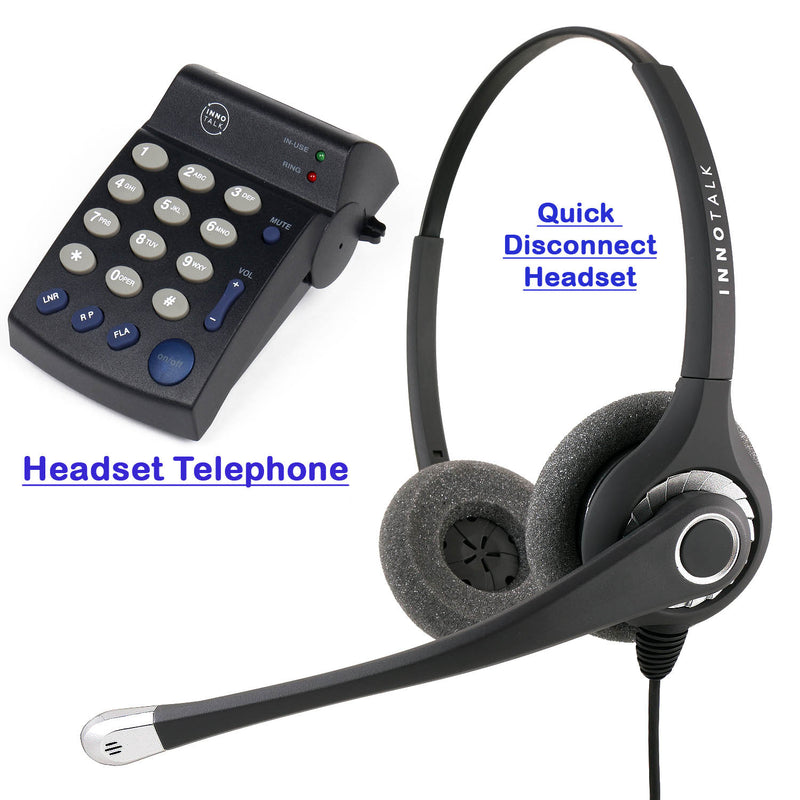 Headset Telephone Package - Best Sound Professional Phone Headset + Headset Telephone for Telemarketing as Agent Headset