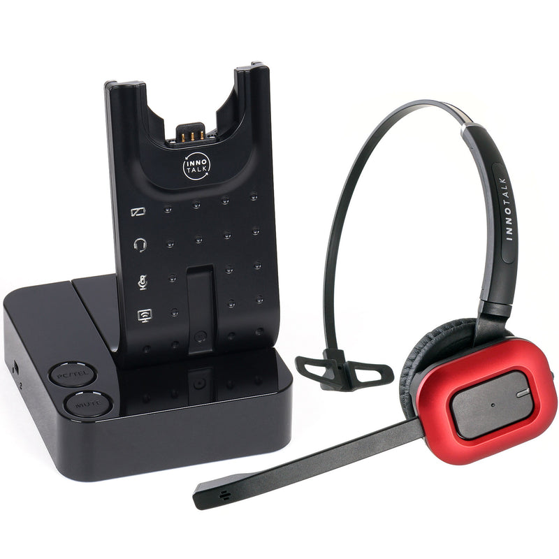 Wireless Headset Computer and Polycom IP 320, IP 321, IP 330, IP 331, IP 335  - Universal Wireless Headset + Polycom EHS