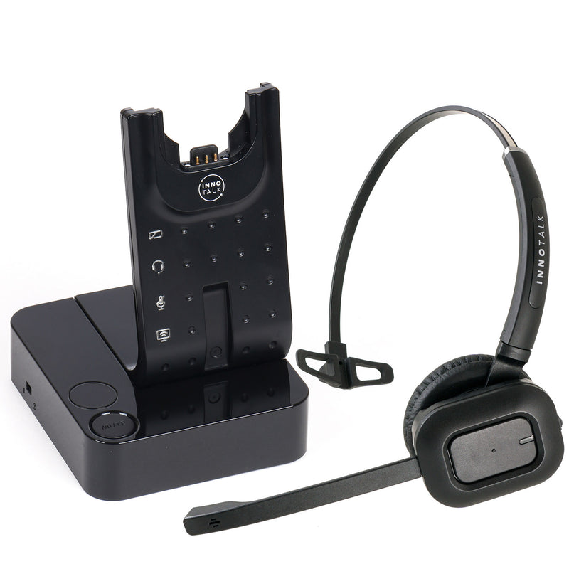 Wireless Headset Polycom IP 320, IP 321, IP 330, IP 331, IP 335, IP 430 - desk office phone call center Wireless headset + Polycom EHS cord Bundle