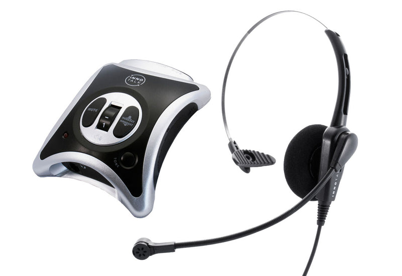 Headset System Plus Package - Business Phone Headset + Headset Amplifier - Noise Cancel, Volume Control and Lot features