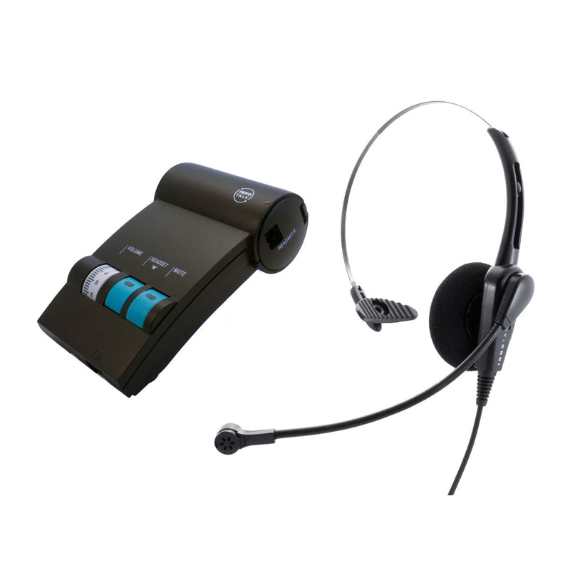 Cisco Phone 7902G, 7905G, 7906G, 790xG Headset and Amplifier Combo - Business Grade Economic Monaural headset with a Headset Amplifier