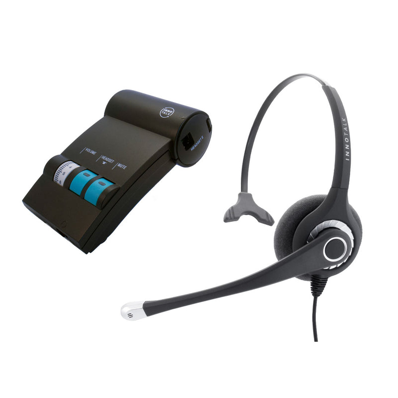 Cisco Phone 790xG, 791xG, DX650 Headset - Sound Emphasis Noise Cancelling Microphone Pro Monaural Headset with a Headset Amplifier