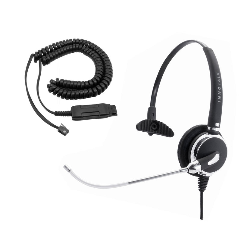 Avaya 6416D+M, 6424D+M, QE4610 Office Headset - Voice Tube GN netcom Compatible Headset  + Avaya Headset Cord