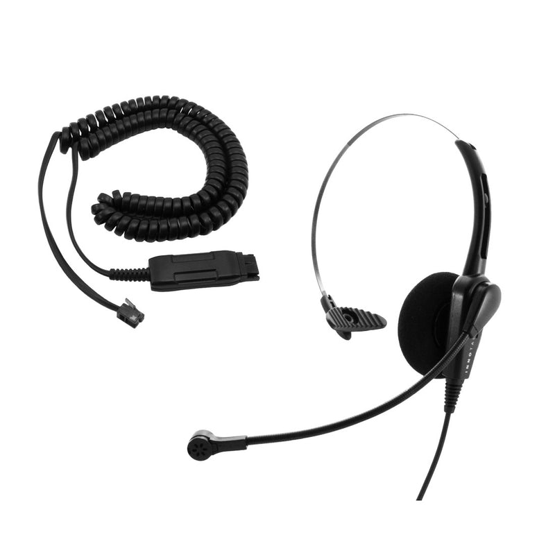 Avaya Phone Headset for 1408, 1416, 2410, 2420, 4424D - Jabra GN netcom Compatible Economic Monaural Headset