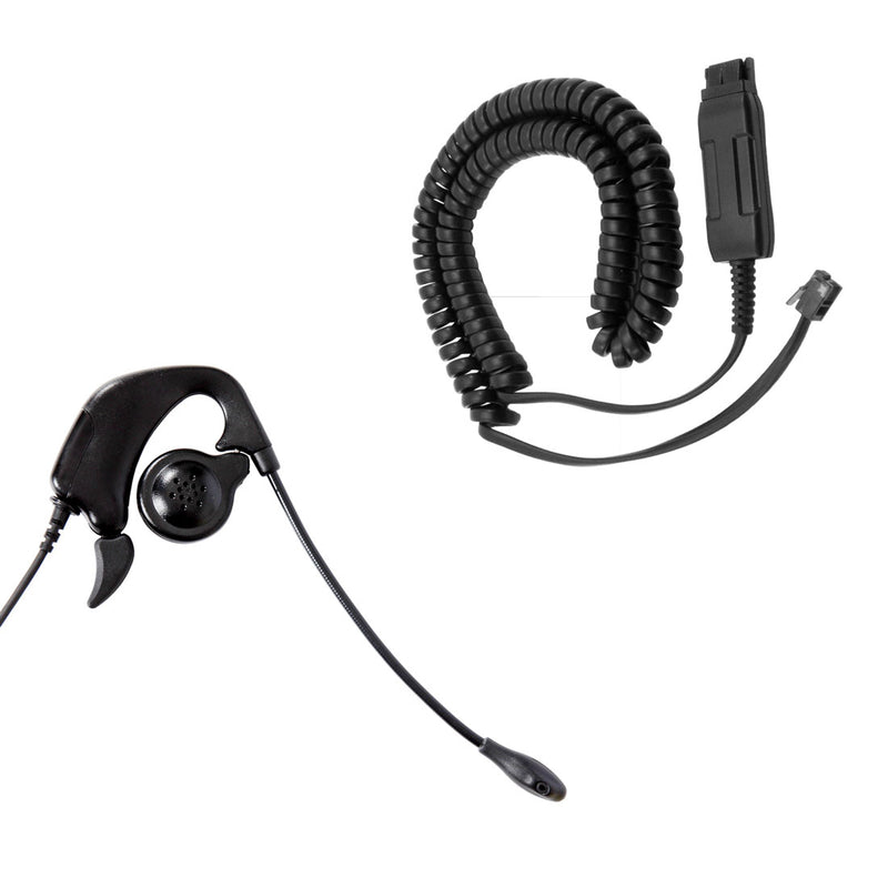 Avaya 1608, 1616, 9601, 9608, 9610 Phone Headset - GN netcom compatible Ear Loop Headset + Avaya phone adapter