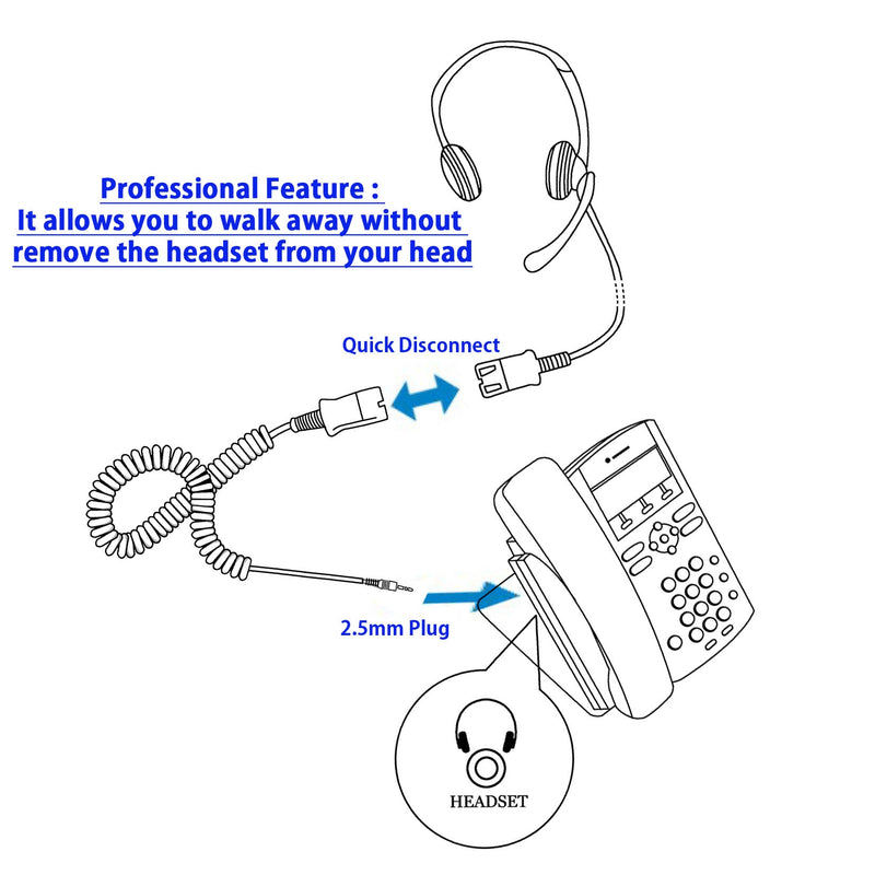2.5 mm headset - Innotalk Voice Tube Mic Binaural Headset with Wideband Swiveling Speaker